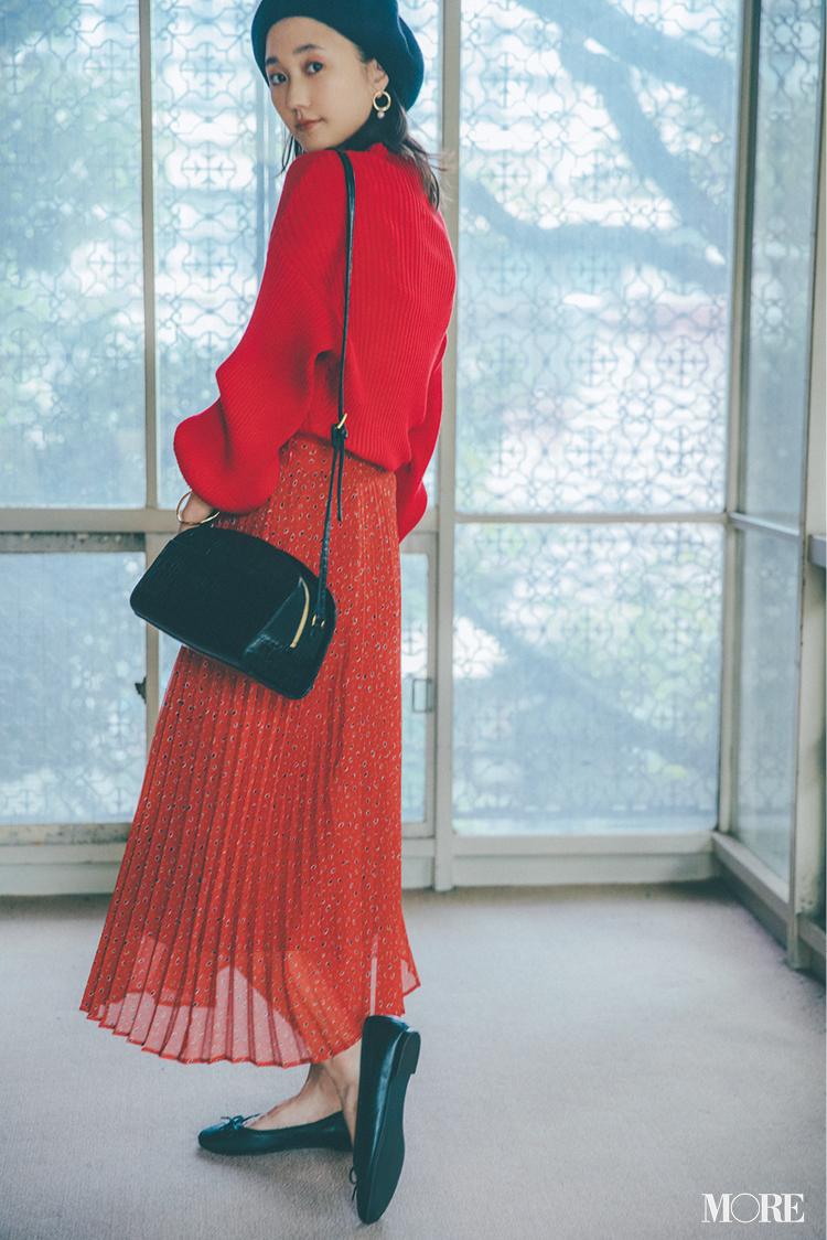 ロングスカートコーデ特集《2019秋》- プリーツスカートやチェック柄スカートなど、旬のスカートコーデまとめ_13