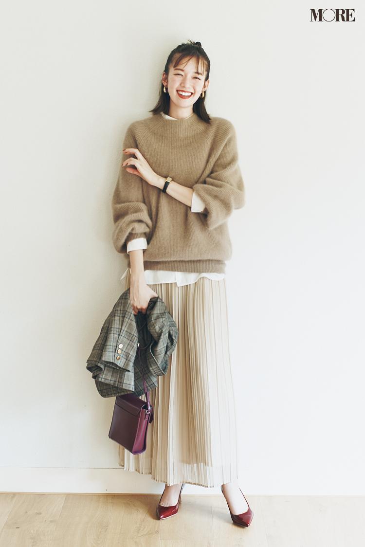 """新しく買わなくってもいいじゃん♡ ベージュのプリーツスカートは""""3足の靴""""で新鮮さがよみがえる!_5"""