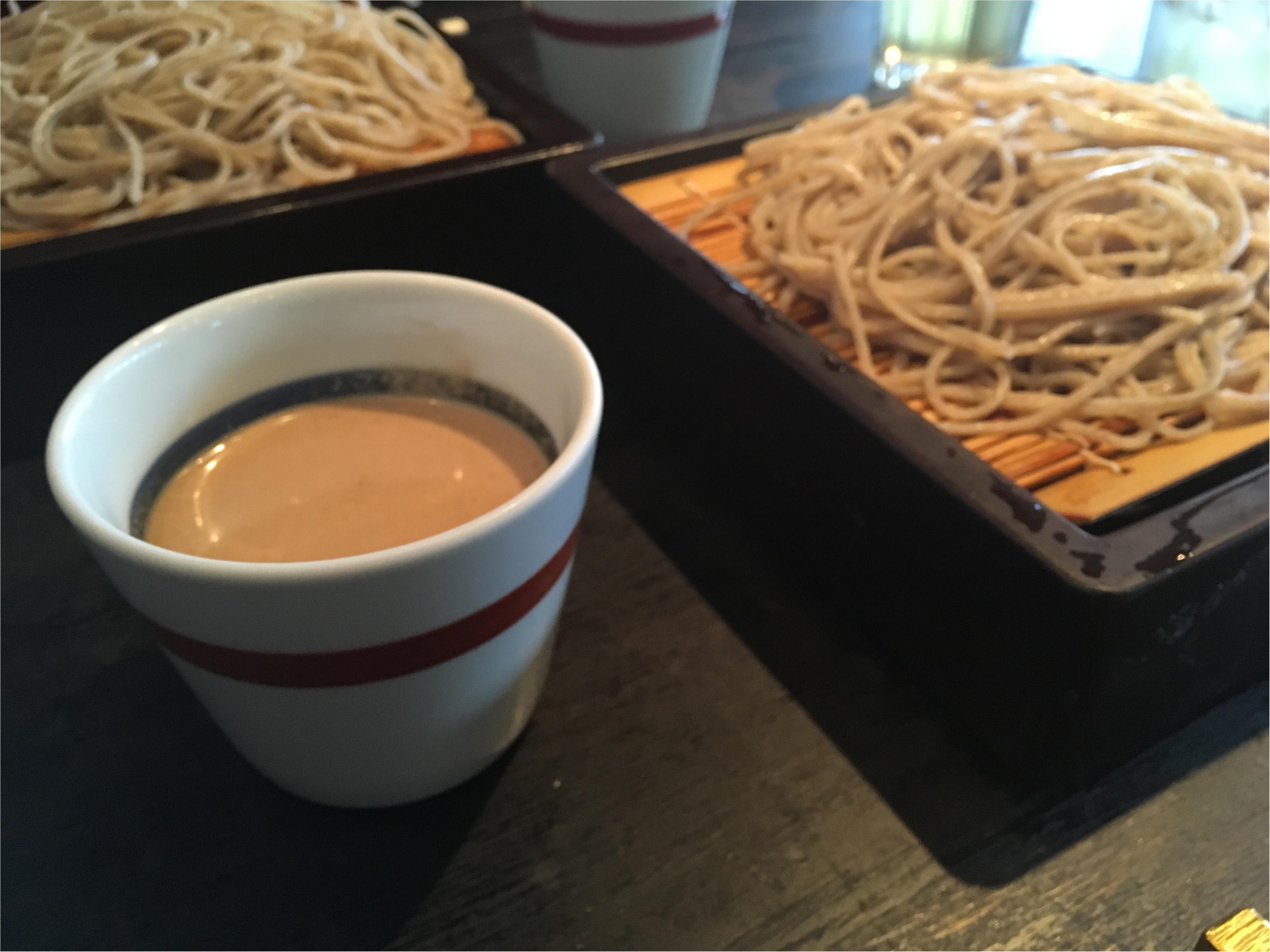 表参道のお蕎麦屋さん「川上庵」でくるみ蕎麦。_1
