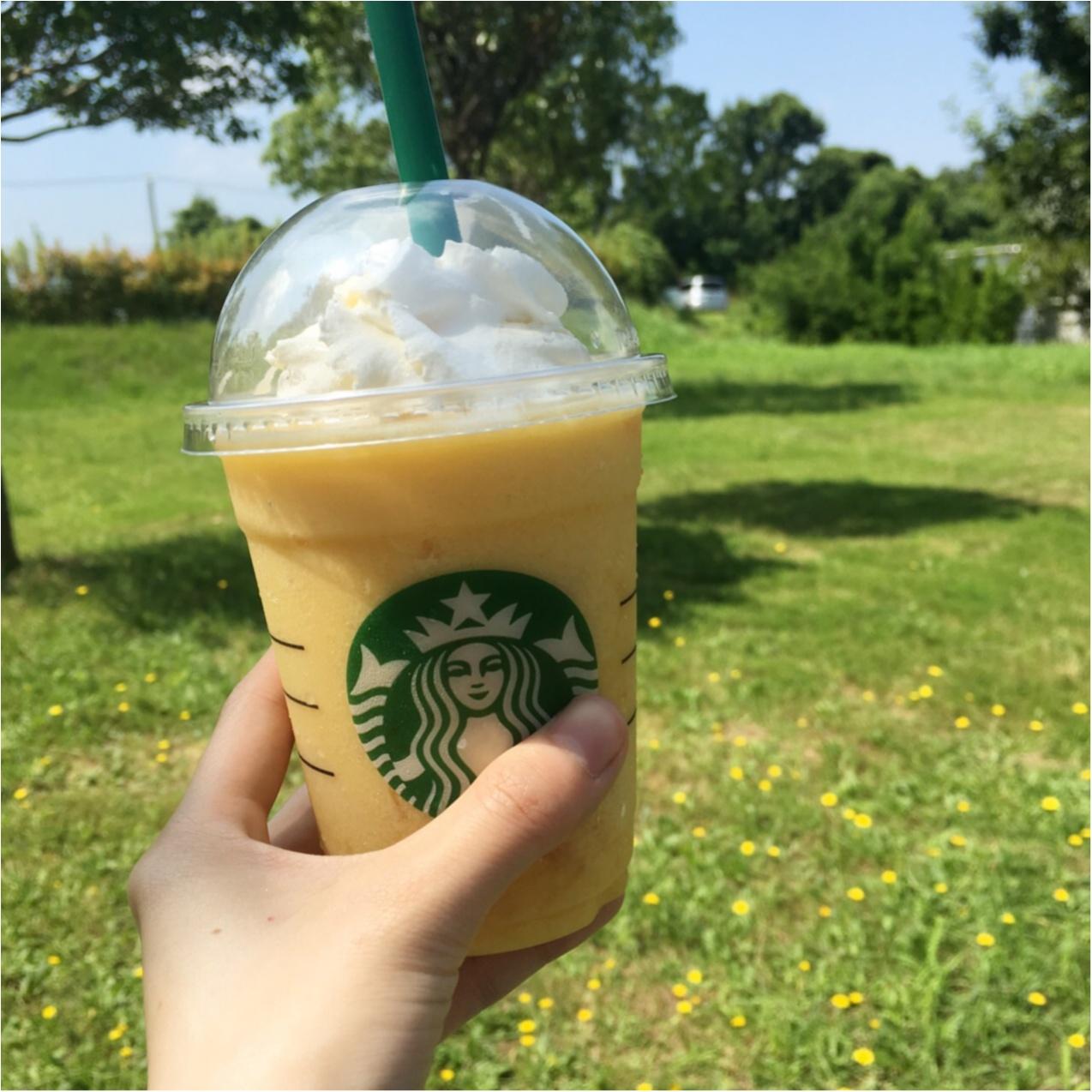 【スタバ新作】暑い夏に飲みたい!果肉たっぷり♡クラッシュオレンジフラペチーノ♡_1
