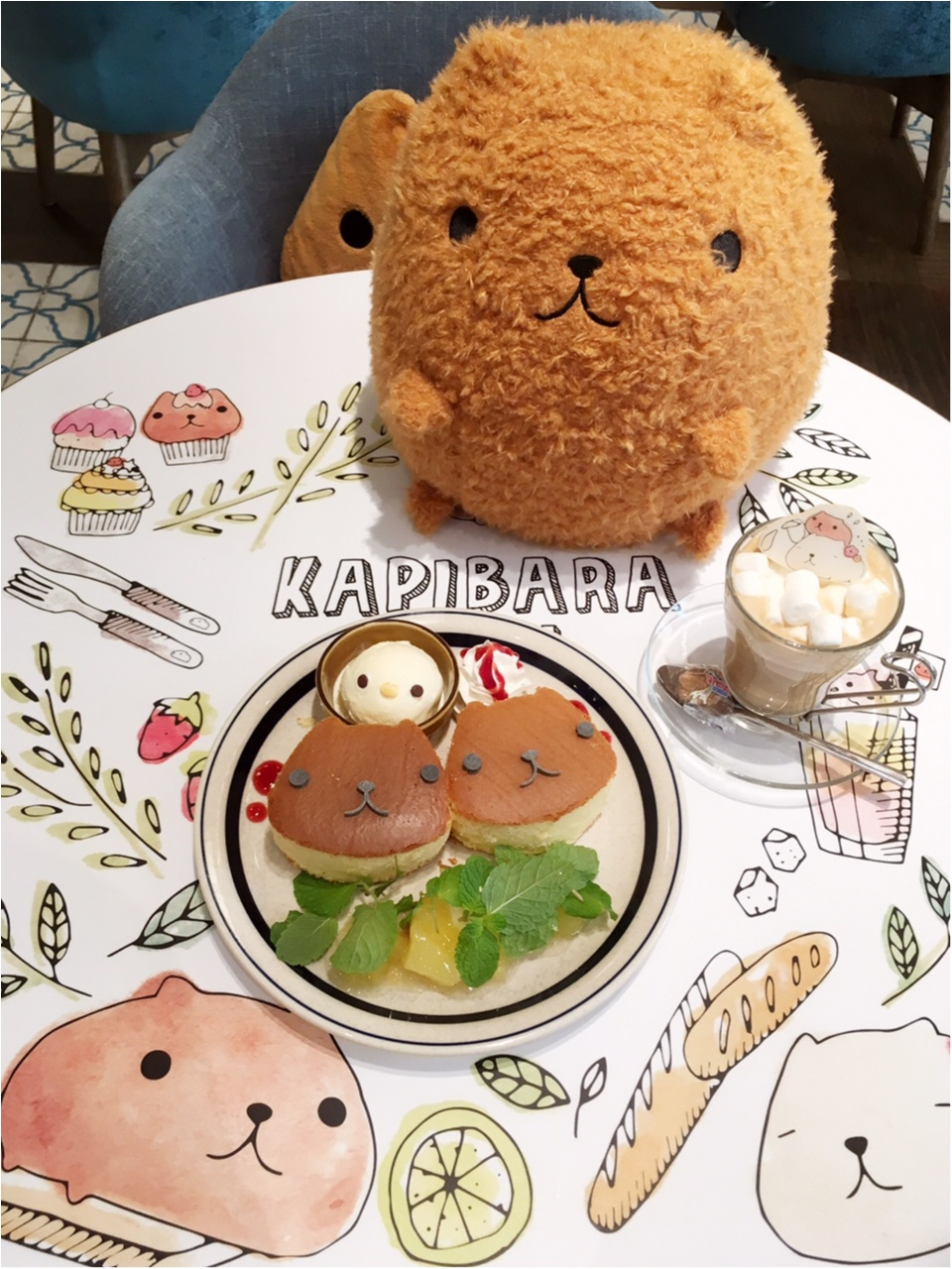 """""""大人カピバラさん""""がテーマの『KAPIBARASAN×HANDS CAFE』 に行ってきました♡_7"""