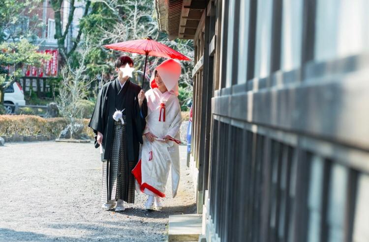 【本格和婚②】徳川慶喜公屋敷跡、浮月楼で披露宴をしました*。_7