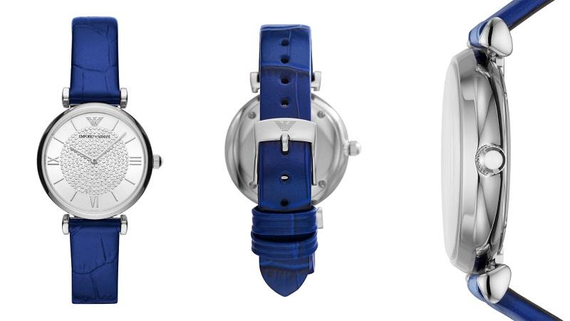 エンポリオアルマーニ、ブルーベルトの時計