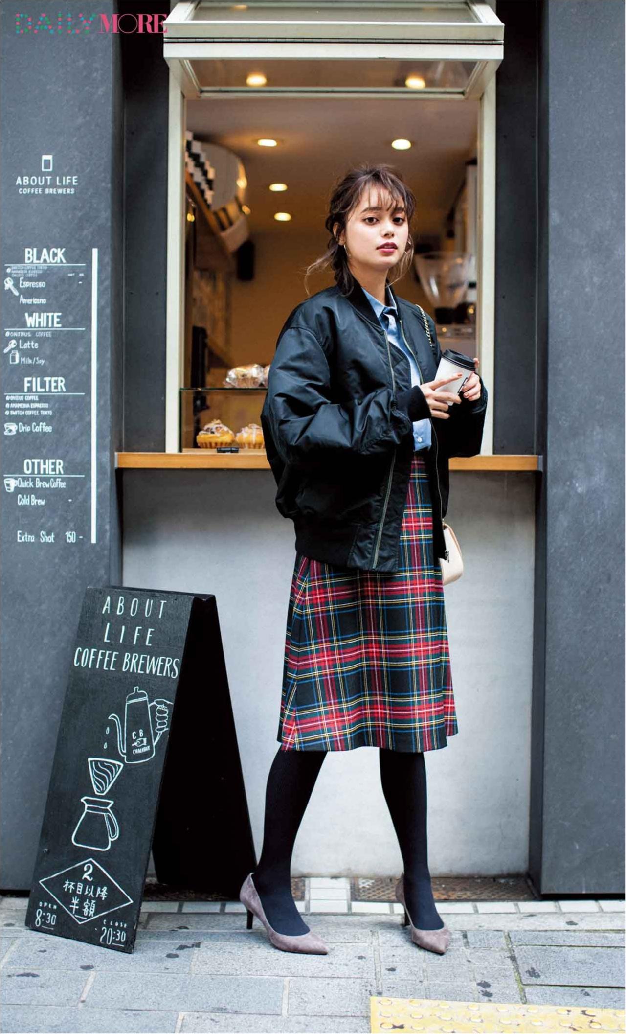 【今日のコーデ/岸本セシル】街へ繰り出す土曜日は流行キルトスカートでレディにこなれて♪_1