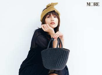 川口春奈さん、小物で夏を満喫♬ かごバッグ、スポサン、エコバッグでおしゃれを楽しむ!