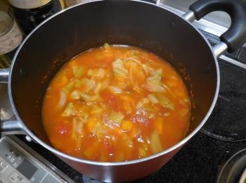 脂肪燃焼スープ効果あるかなと期待しながら飲んでます