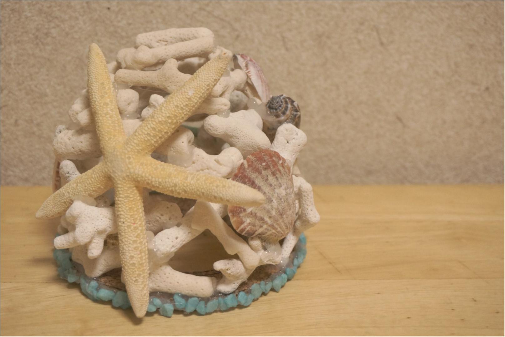 【ハンドメイド講座】大人の自由研究( ´艸`)⁉️枝珊瑚で作る夏物ランプシェード♡_7