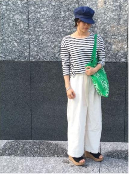 身長158cmスタッフOが実践! 白のワイドパンツをスタイル良く見せる方法。_3