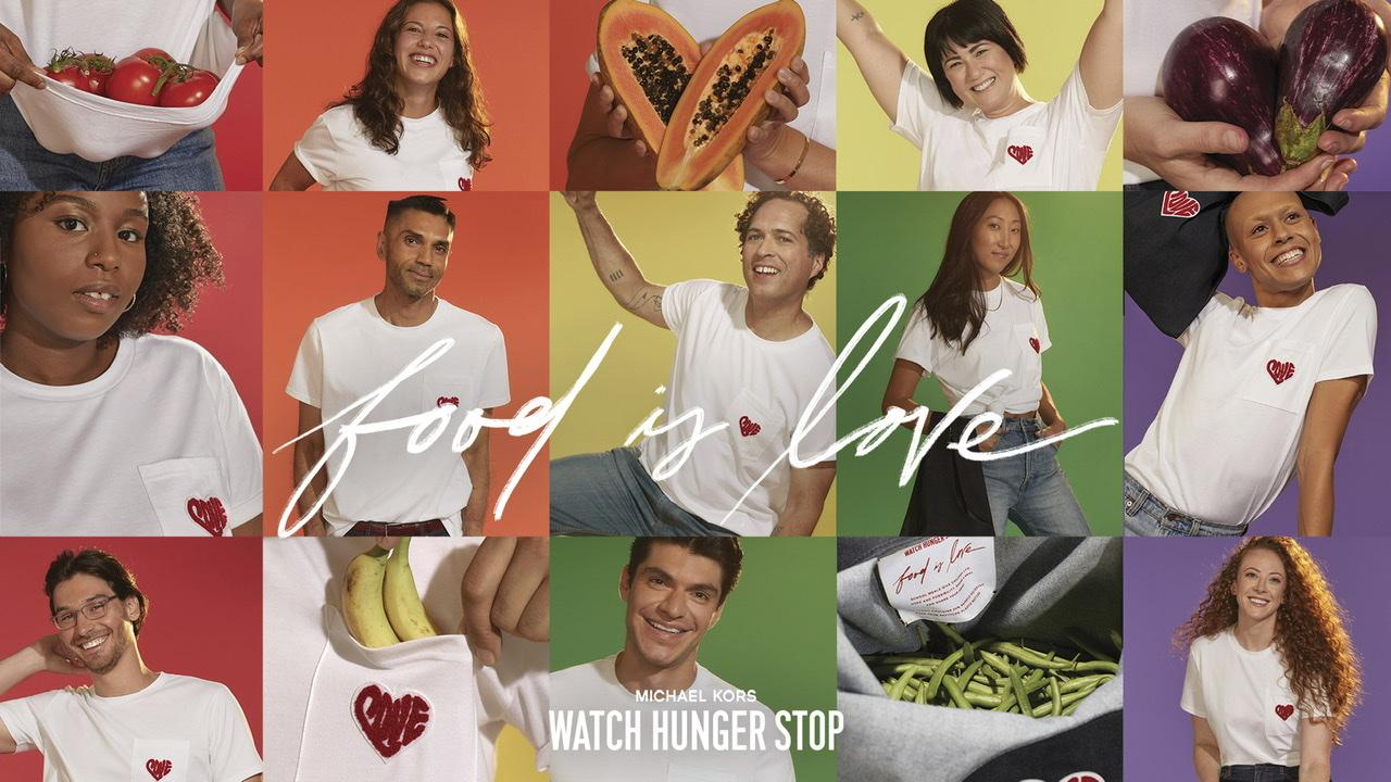 『マイケル・コース』の社員が広告塔!「ウォッチ・ハンガー・ストップキャンペーン」のTシャツ&バッグの新デザイン発表♡_1