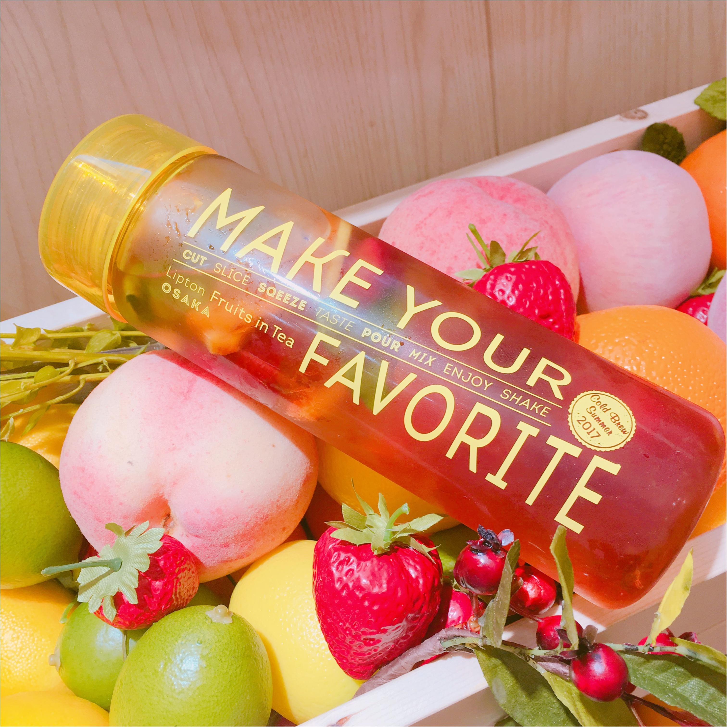 【期間限定】行かなくっちゃ♡オリジナルのフルーツティーが作れる♪《 リプトン 》が新しいアイスティーの専門店をオープン♡ ♡_4