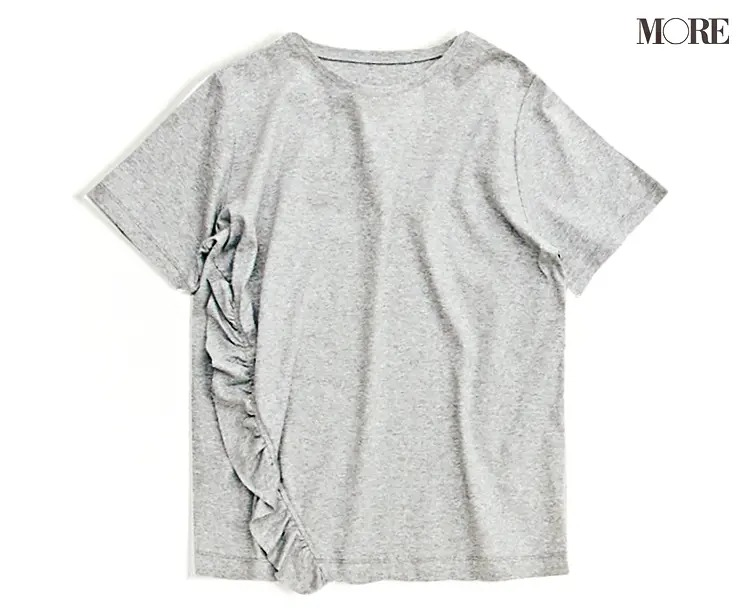 スタイリストが教える「白と黒」簡単フレンチシック♪ 汗ジミ予防機能つきインナー&グレーTシャツも【今週のファッション人気ランキング】_2
