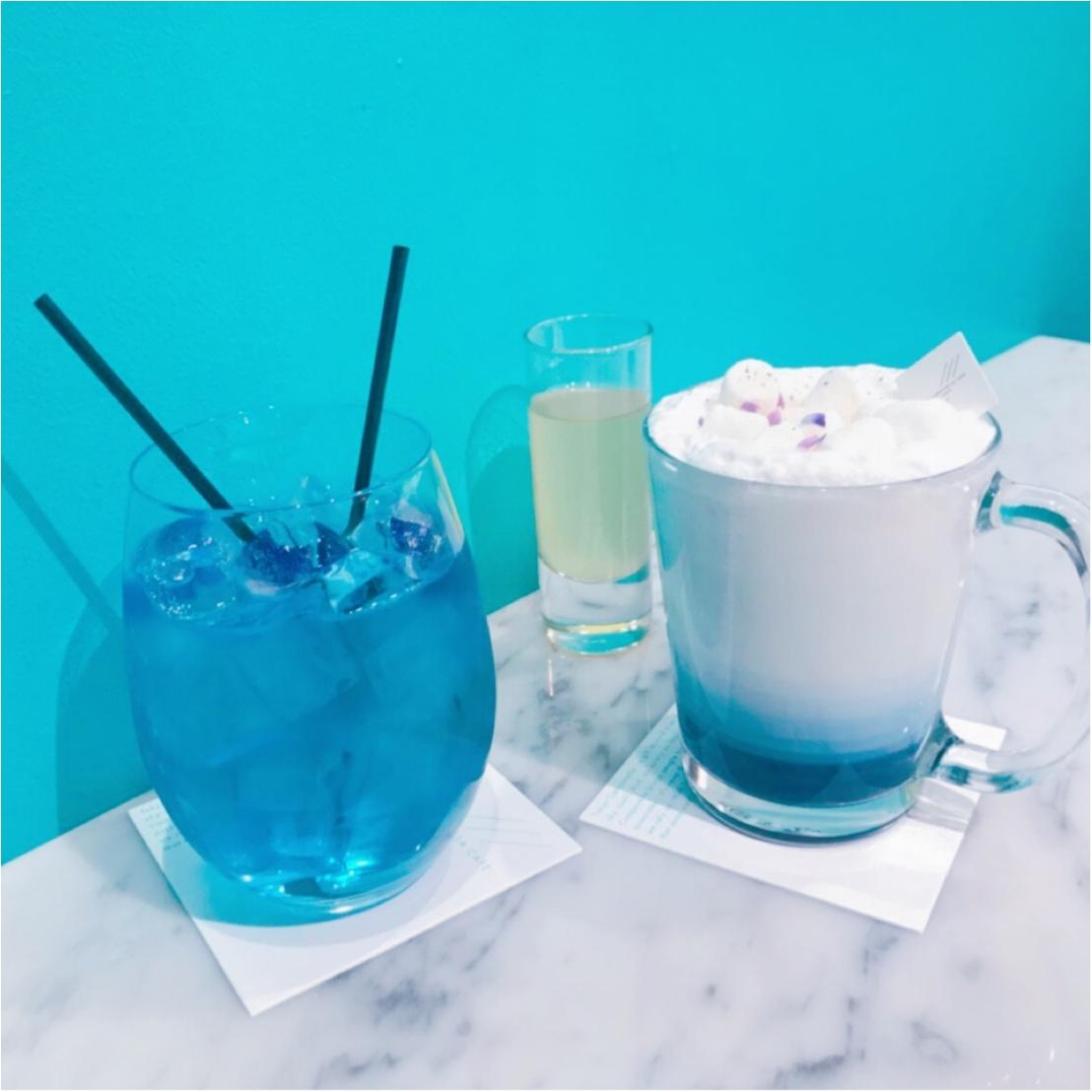 ★ブルー→パープルの変化系ドリンクがあるお店♡大好きな水色がたくさん!『CAMPANELLA CAFE』へ行ってきました★_3