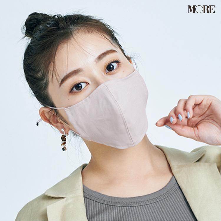 マスクをした櫻坂46・守屋茜さん