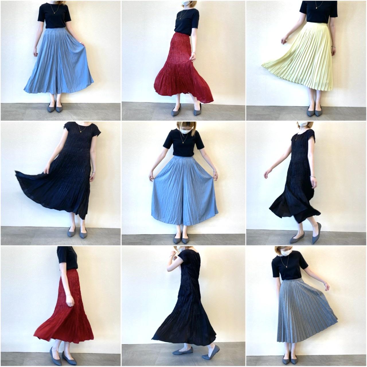 『ユニクロ』の洗えるプリーツが秋も大豊作♬︎ スカート、パンツ、ワンピース、全部着てみました!【2:柄物&ワンピース編】_6