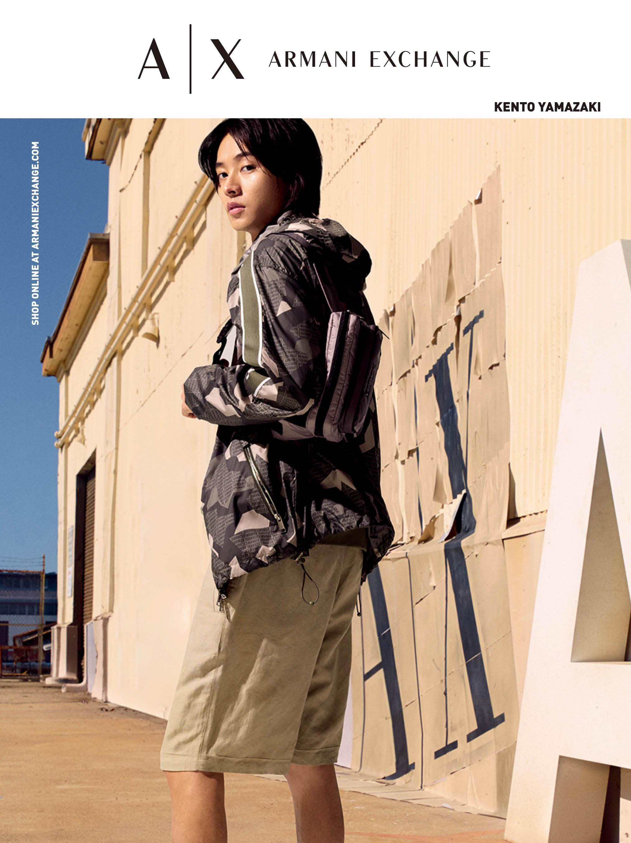 【速報】山﨑賢人さん最新ビジュアル公開♡ 『A|X アルマーニ エクスチェンジ』の夏はスポーティに_1