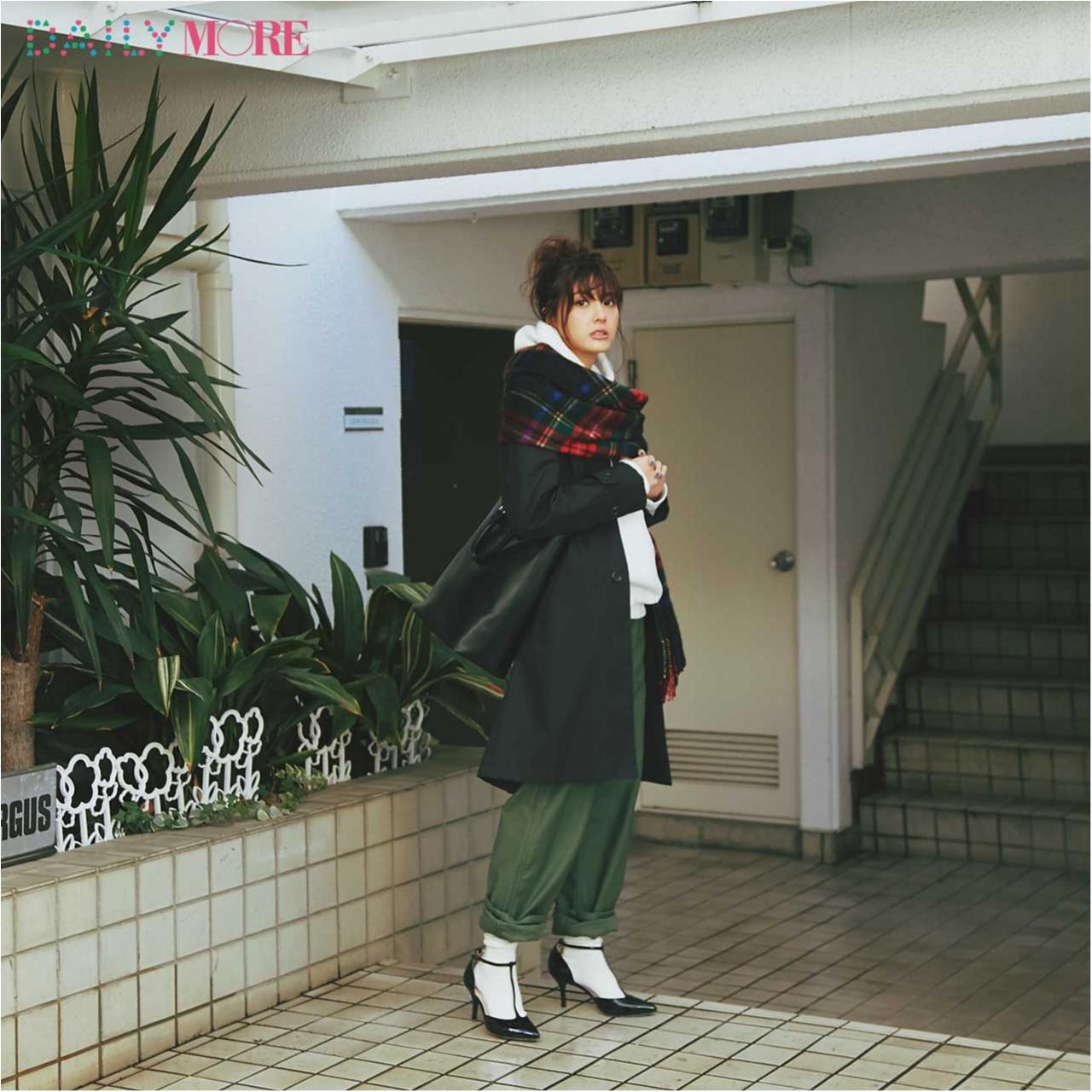 【今日のコーデ/佐藤ありさ】気になる彼と約束がある日曜日はカジュアルbut女らしいスタイルで。_1