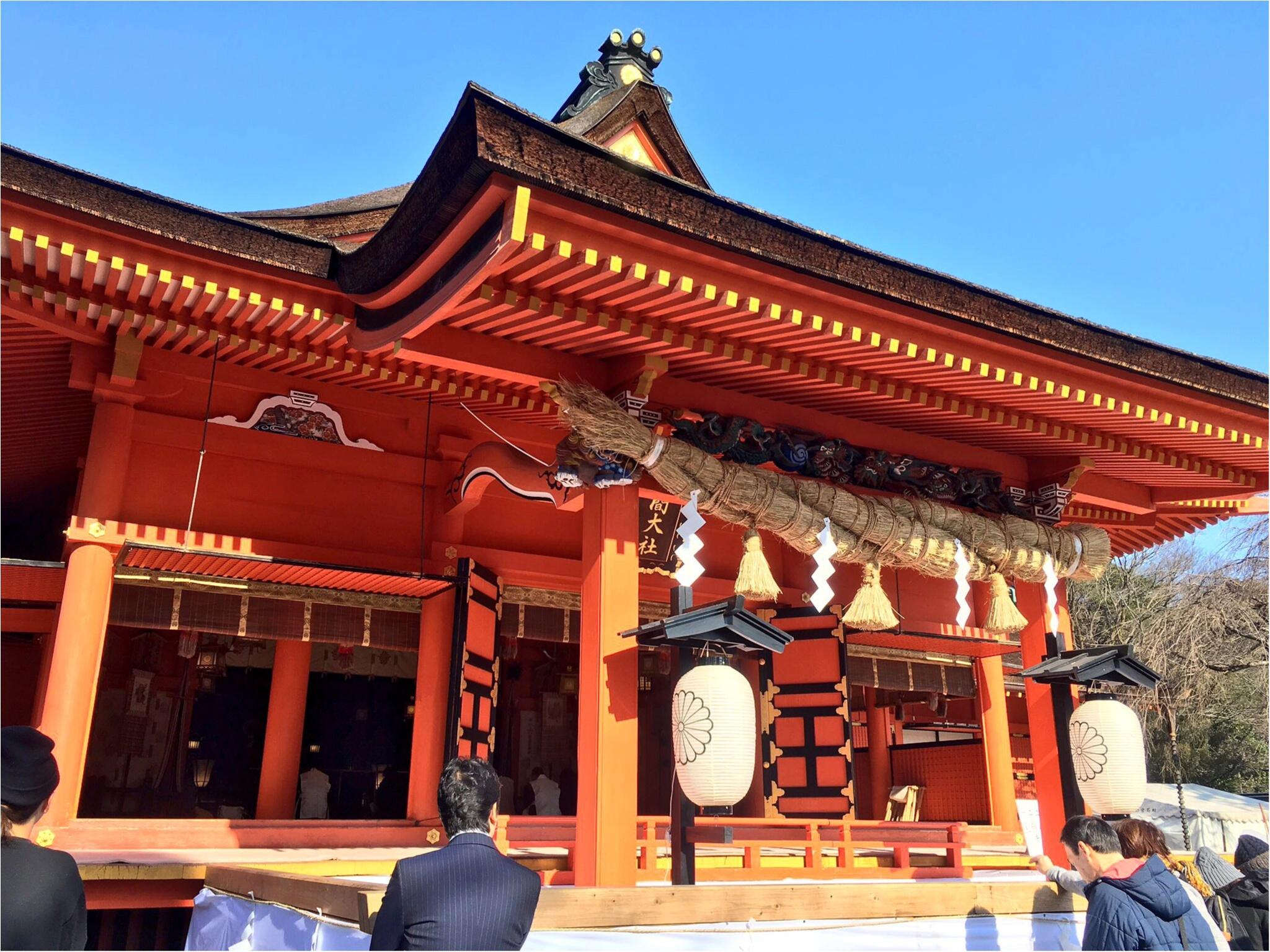 境内から富士山が見える♡全国1,300社ある浅間神社の総本社【富士山本宮浅間大社】に初詣に行ってきました(*´ ˘ `*)_3