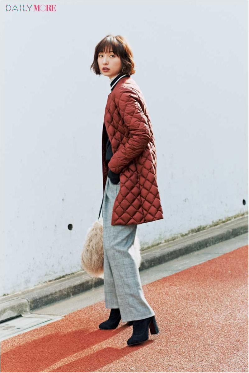 【今日のコーデ/篠田麻里子】トラッド適齢期の今こそ似合う、チェックパンツ×ダウンコートの相思相愛コーデ♡_1