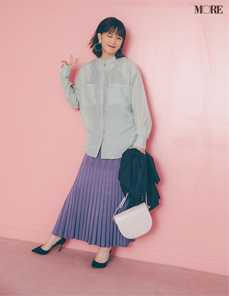 本田 翼も可愛くトライ☆ シャツ+スカートの「愛されシンプル」流ワンツーコーデ術! PhotoGallery_1_4