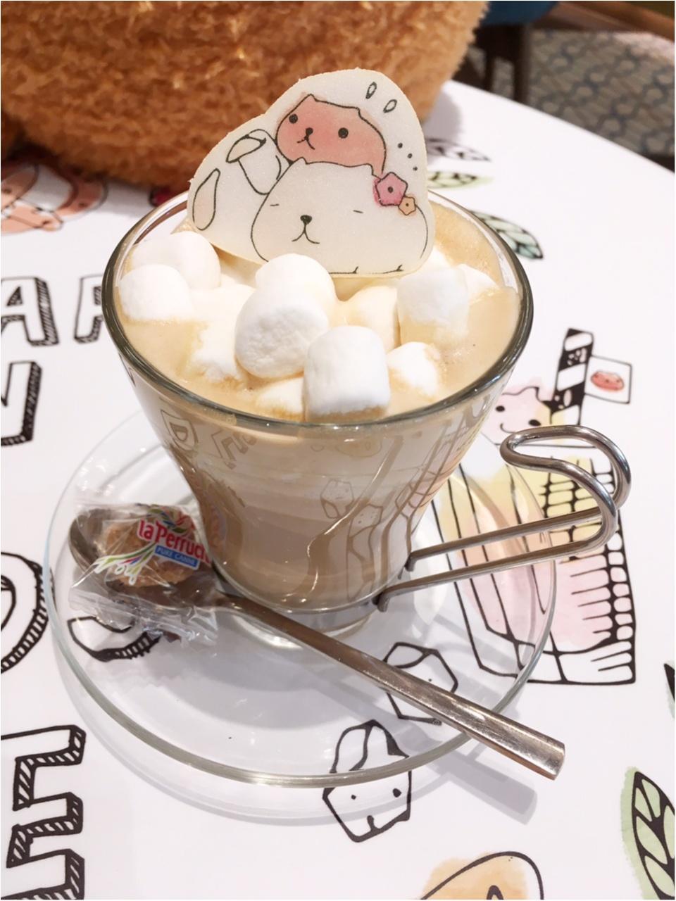 """""""大人カピバラさん""""がテーマの『KAPIBARASAN×HANDS CAFE』 に行ってきました♡_6"""