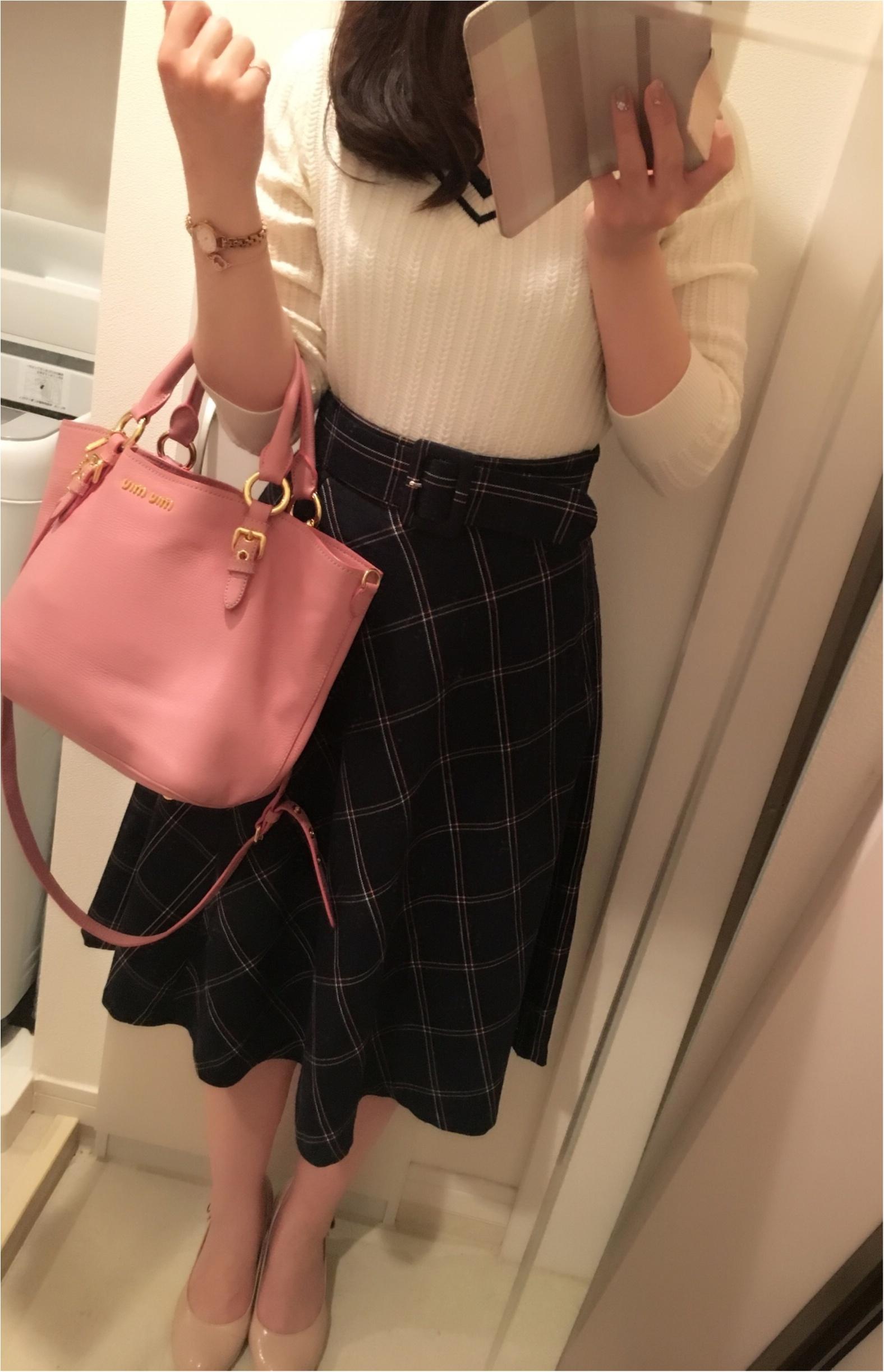 今年の流行!♥ミディ丈スカートで作る♡通勤コーデ4選(っ´ω`c)♡_8