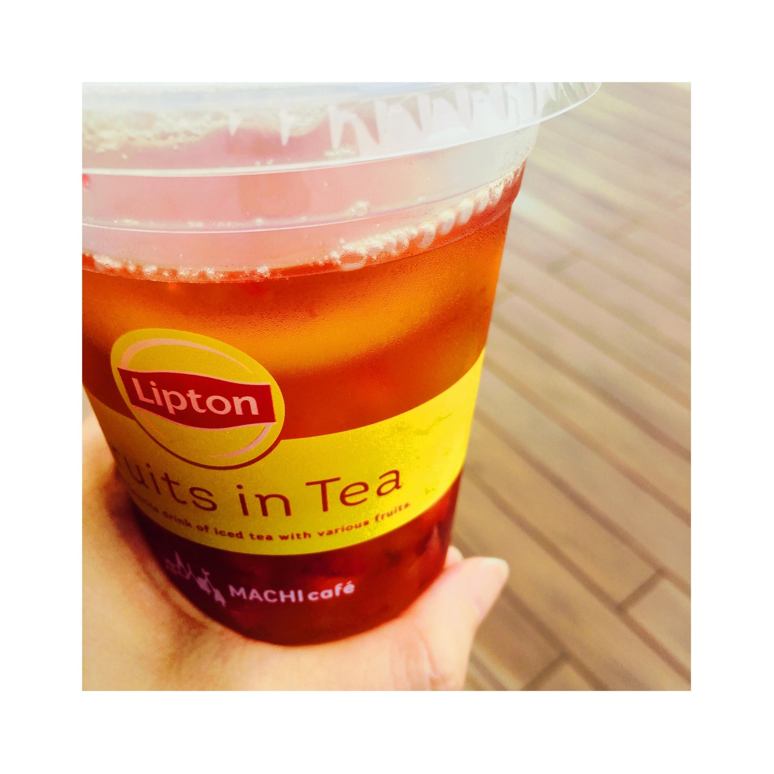 《SNSでも既に話題沸騰★》4時間半待ちの1杯が即買える?!【ローソン】MACHI cafe Lipton フルーツインティーがおいしすぎる❤️_2