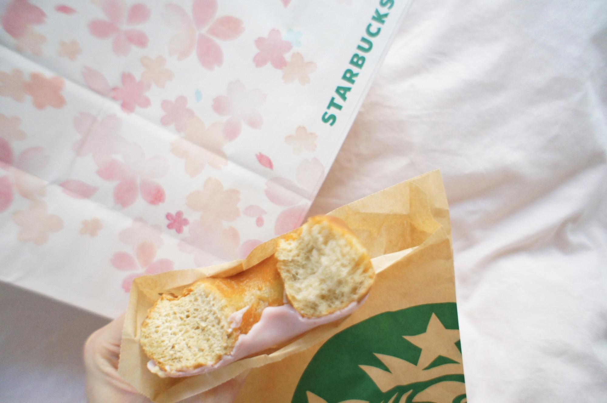 《レジ横foodに注目❤️》フードも春メニューに!【スタバ】さくらドーナツが美味しい!☻_2