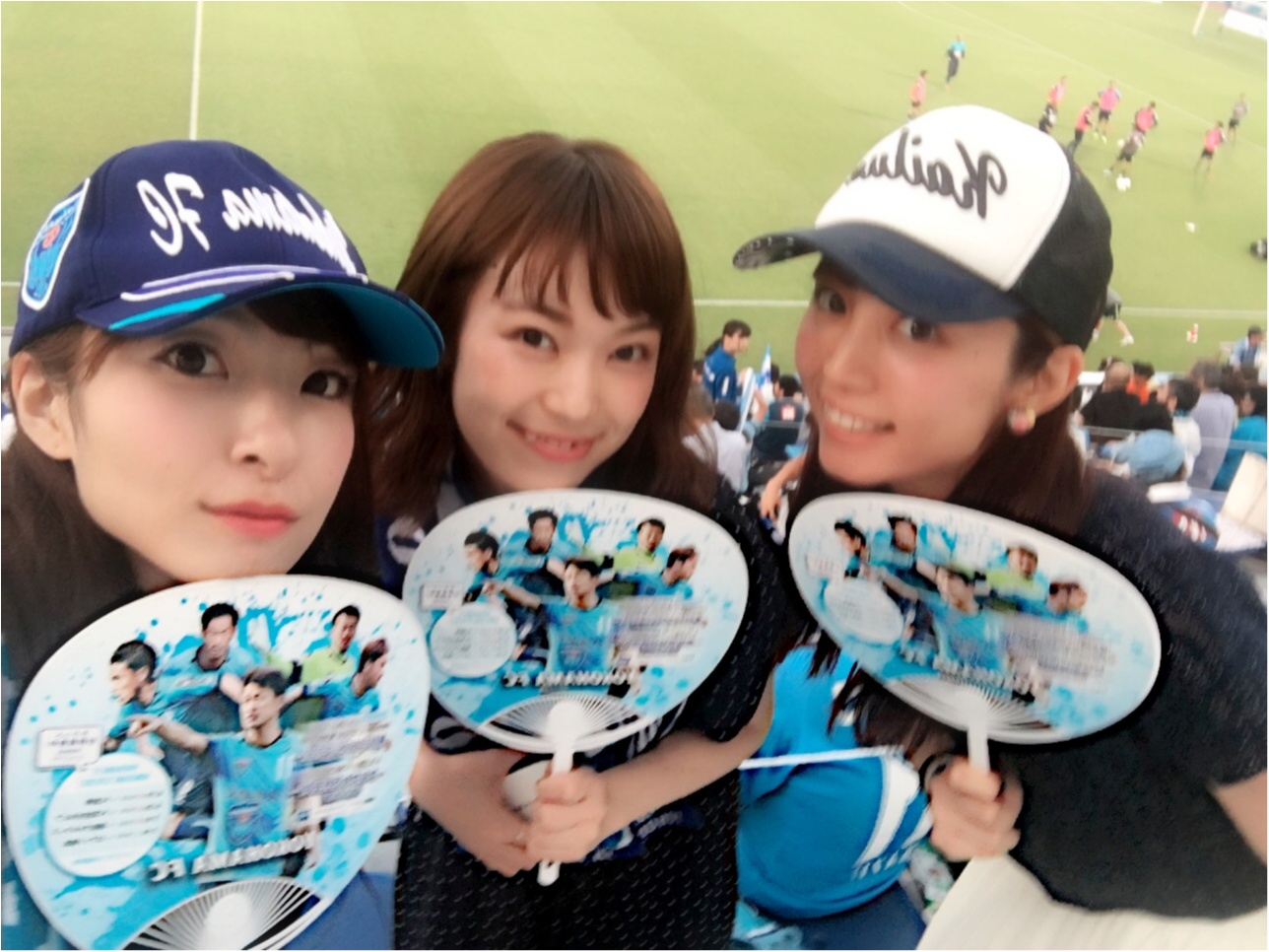 ♡サッカー観戦×モアハピ女子会(*>ω<*)‼︎【横浜FC】♡モアハピ◡̈のぞみ♡_1
