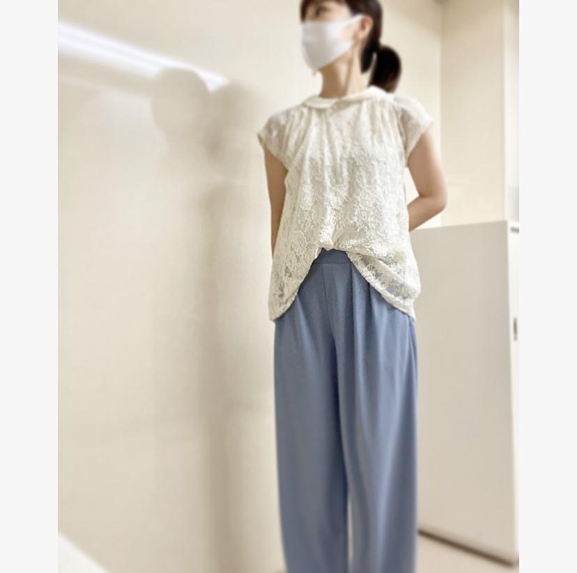 【オフィスコーデ】夏らしさを〜ブルーホワイトorホワイトブルー〜_5