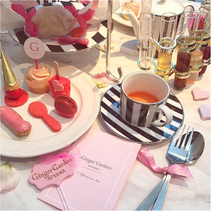 【FOOD】今1番可愛い#アフタヌーンティー はここ♡女子会にぴったり⋈ #GingergardenAOYAMA_8
