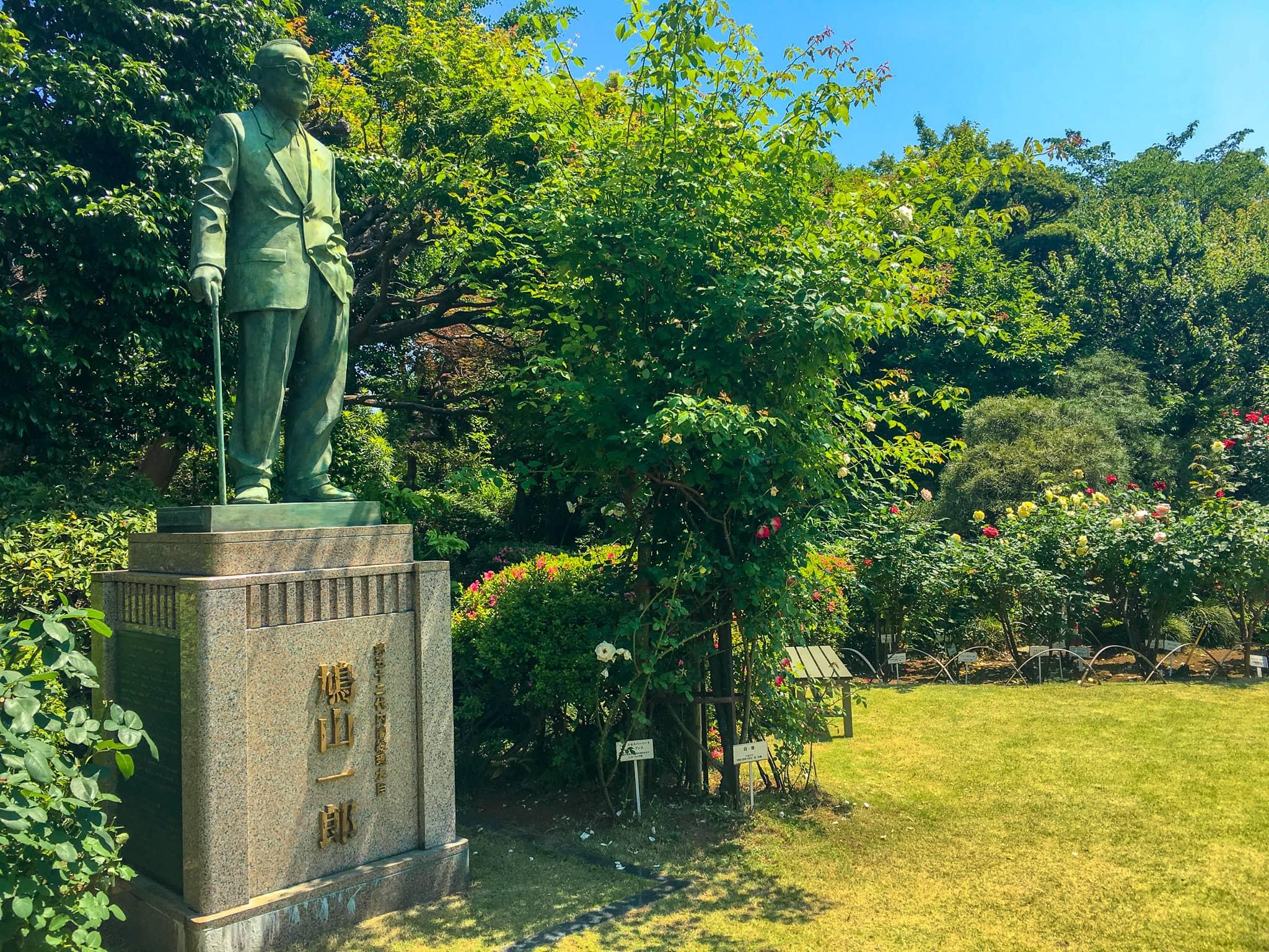内閣総理大臣 鳩山一郎の銅像の画像
