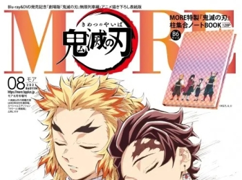 """""""Demon Slayer The Movie – Mugen Train"""" 4 Fashion & Beauty Magazines designed Original cover or supplement for Demon Slayer are released by SHUEISHA."""