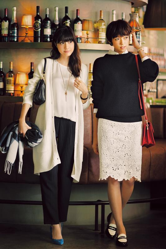 【今日のコーデ】オトナ女子会の金曜は、モノトーンにきれい色小物をひとつ♡_1