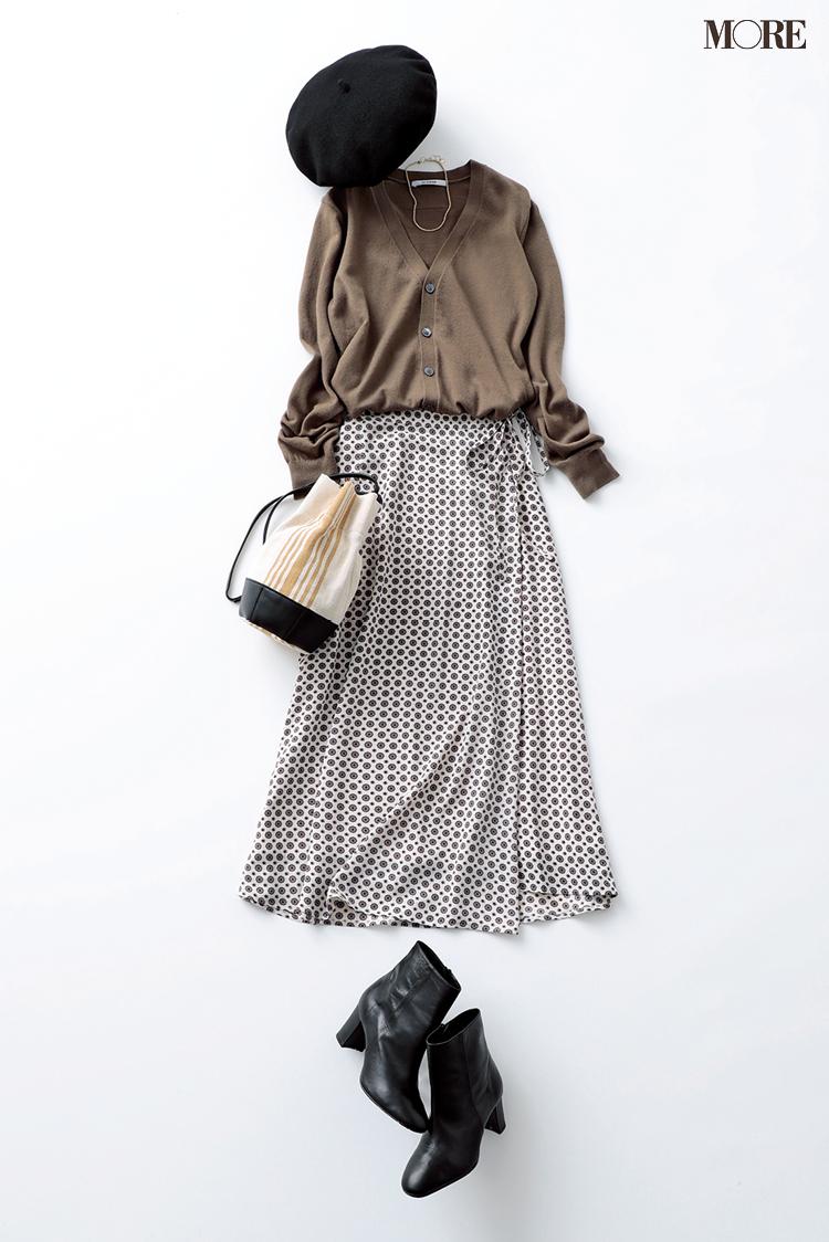 飯豊まりえがトライ!Vネックのニットとカーディガン。この冬はスカート合わせが断然おしゃれ♡ photoGallery_1_8