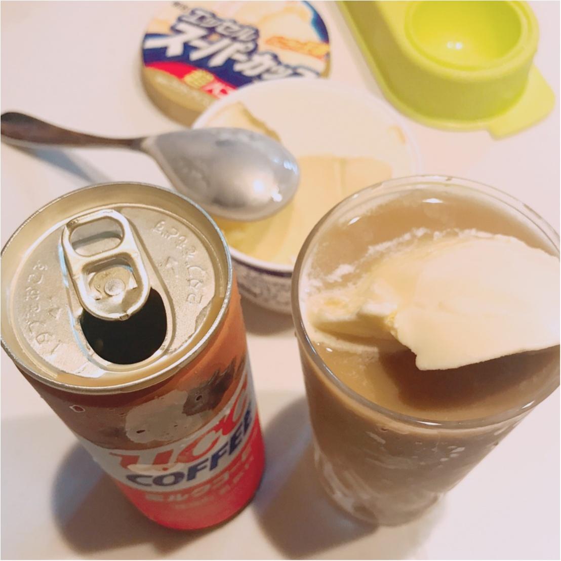 1分de簡単 #おうちカフェ部♡材料2つでできる絶品コーヒーフロートの作り方_4