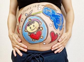 マタニティーアートで赤ちゃんをお迎え