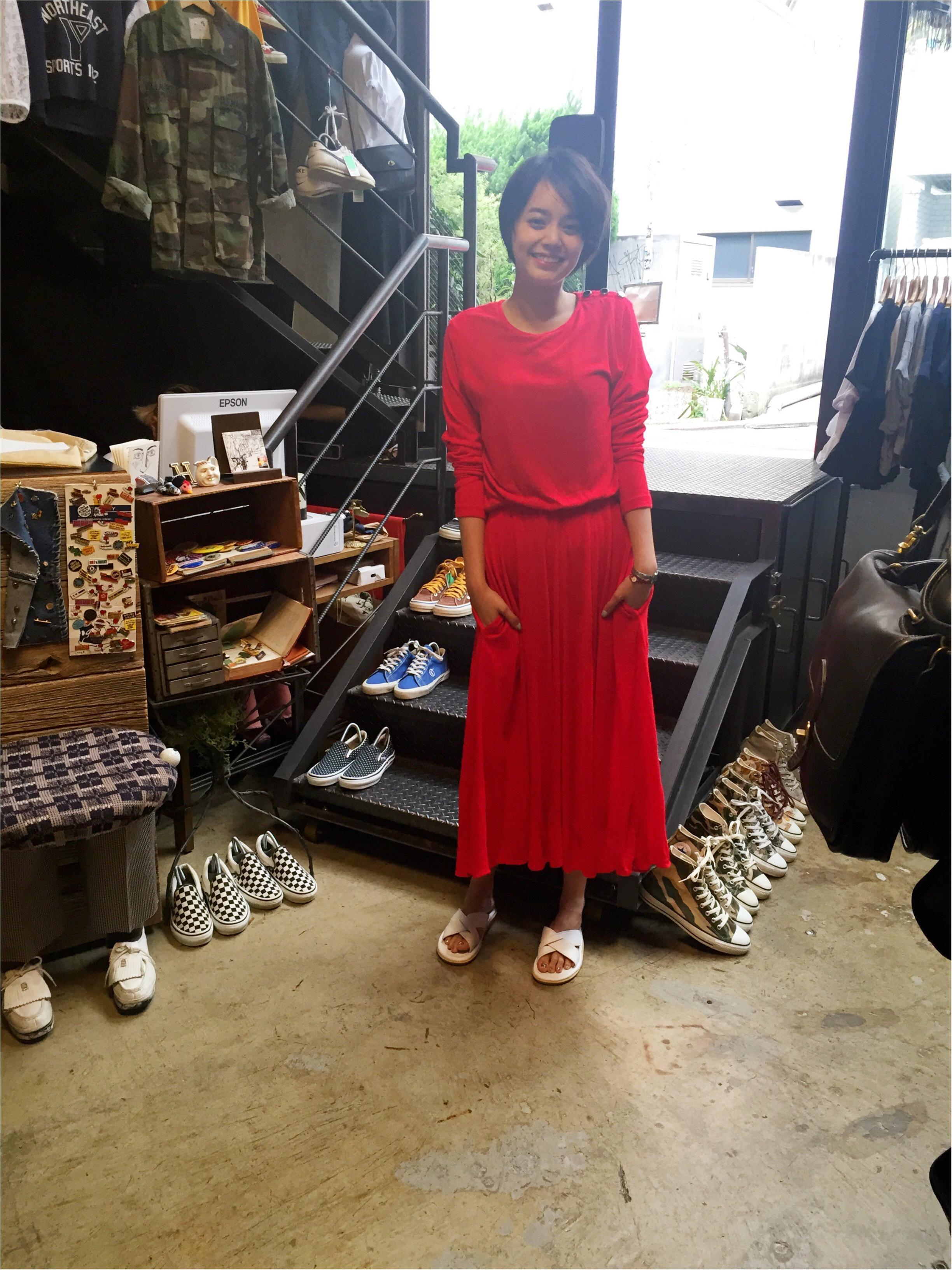 【コレ買っちゃいました!】ヴィンテージの赤いドレス_1