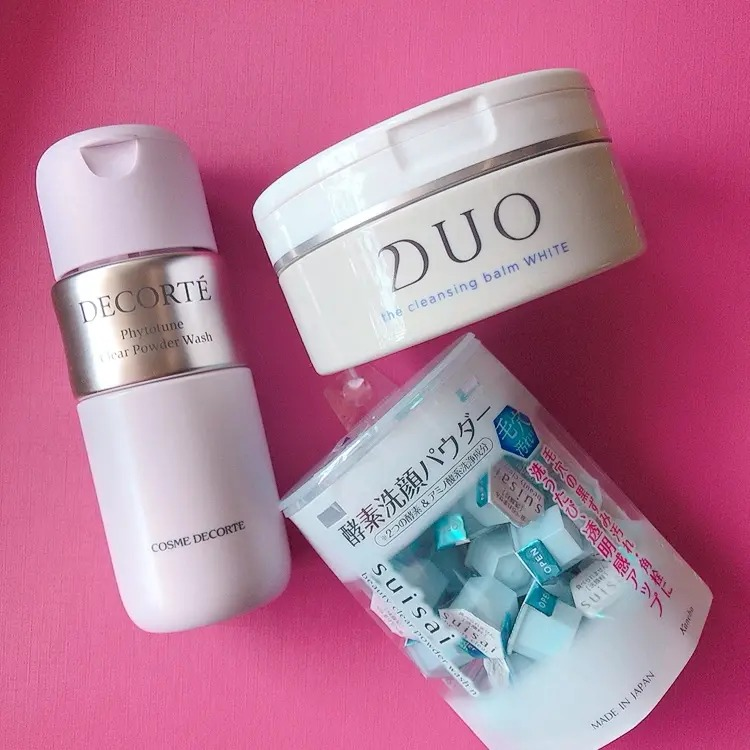 DUO、カネボウ化粧品、コスメデコルテの洗顔料3点