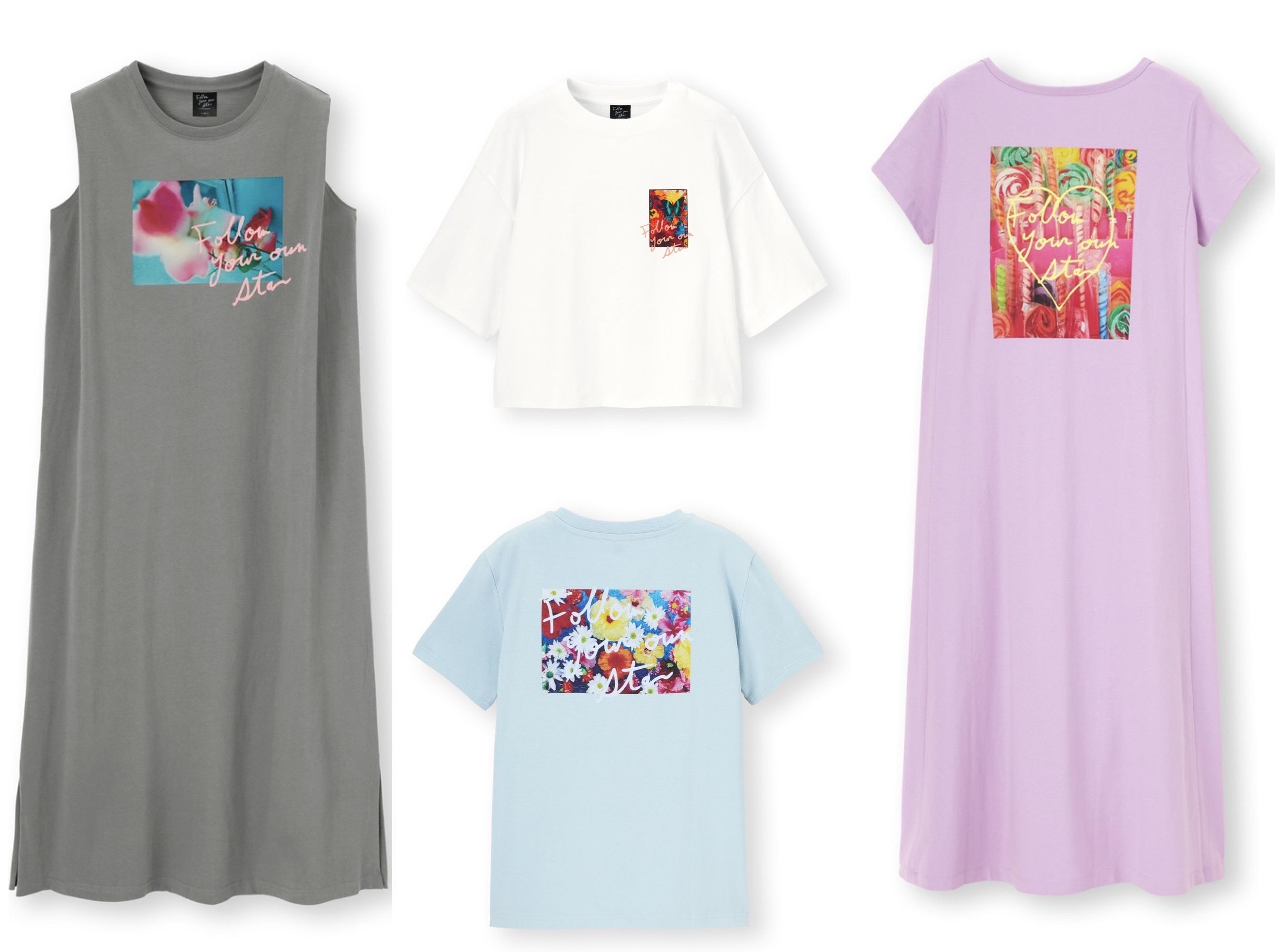 GU×M / mika ninagawaのTシャツ、ブラウス、Tシャツワンピース