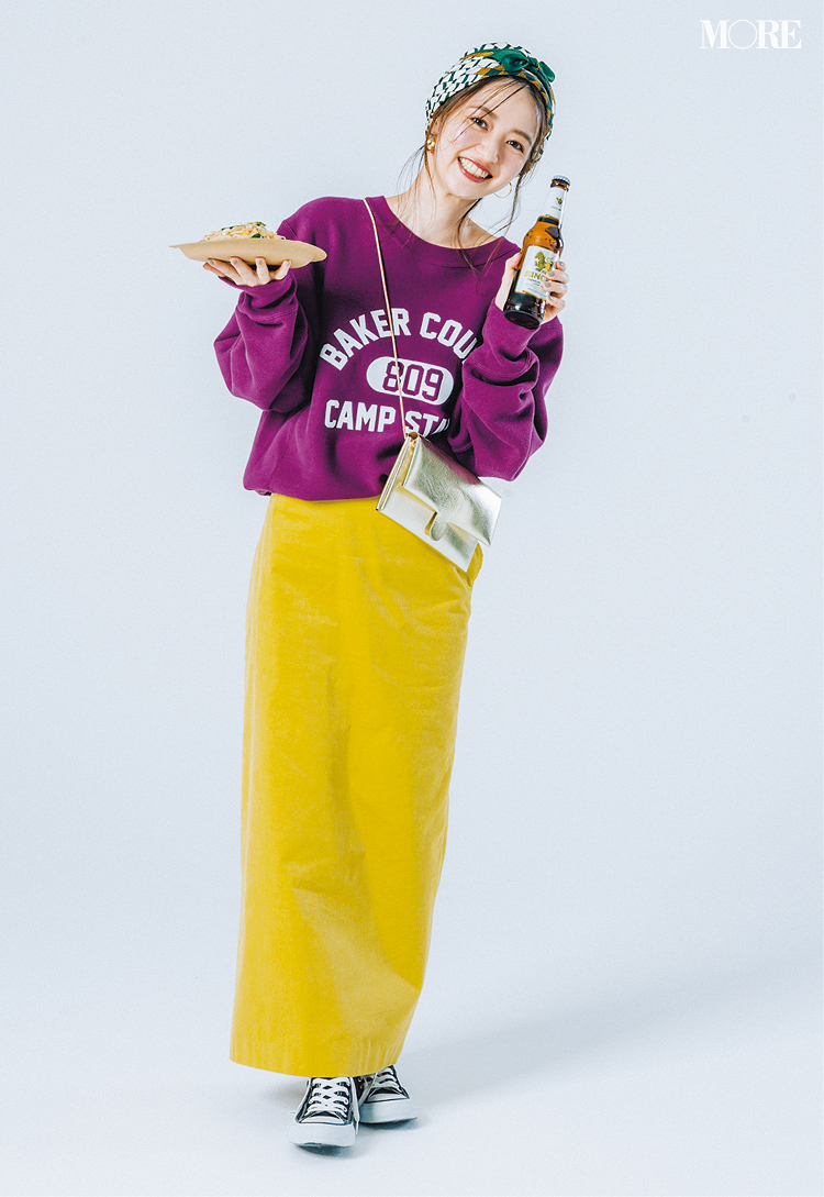 ロングスカートコーデ特集《2019秋》- プリーツスカートやチェック柄スカートなど、旬のスカートコーデまとめ_25