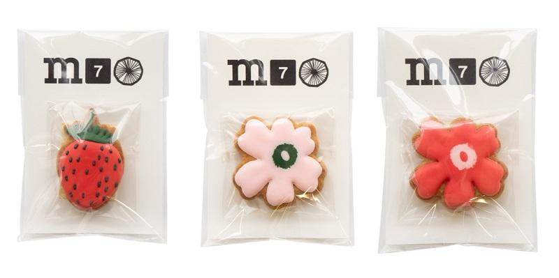 マリメッコ70周年記念、ノベルティのクッキー