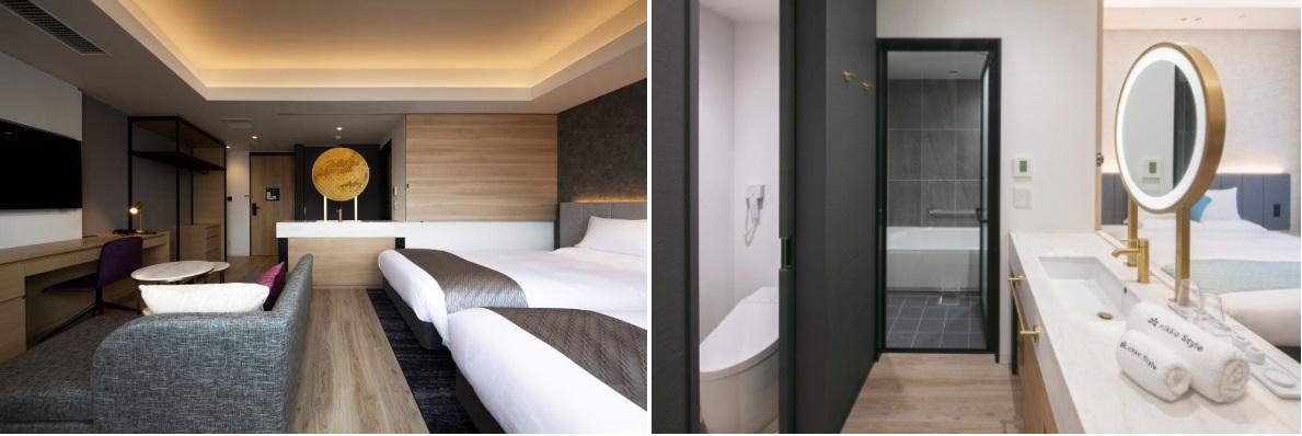 【名古屋のおしゃれホテル】『ニッコースタイル名古屋』のツインルームの様子