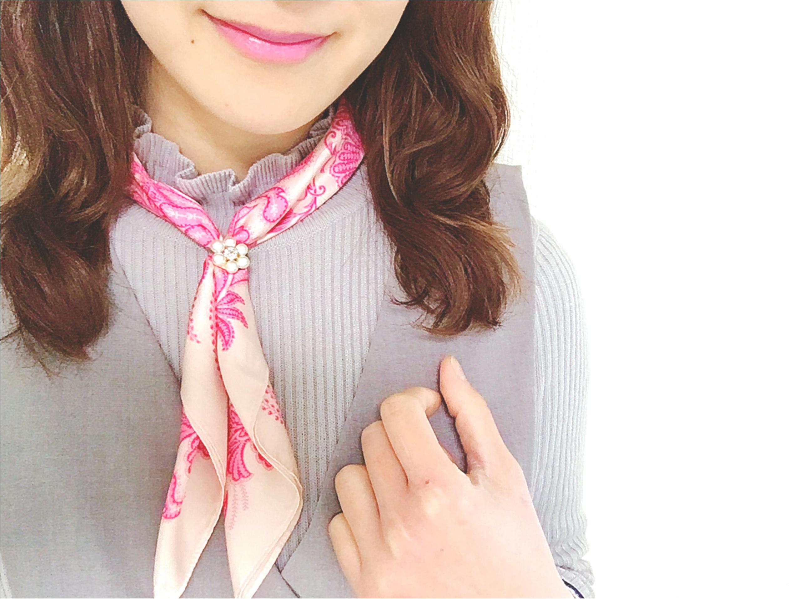 肌寒い日にもぴったり❤️これ1つでこなれ感アップの《スカーフアレンジ》_2