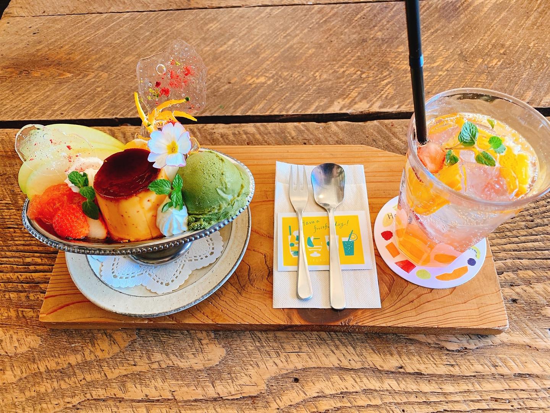 【おすすめカフェ】《桃とメロンのプリンアラモードと自家製シロップソーダ》が絶品♡_4