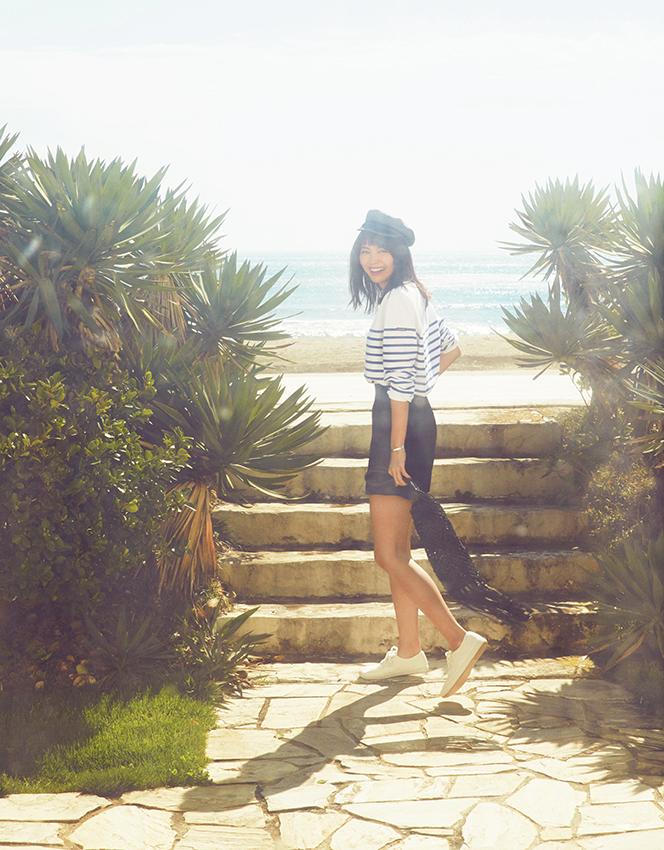 【今日のコーデ】ちょっぴり気の早い海デート♡ 思いっきりマリンで楽しみたい♪_1