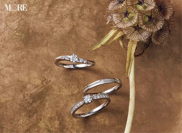 結婚指輪におすすめのジュエリーツツミのエンゲージメントリング2種とマリッジリング