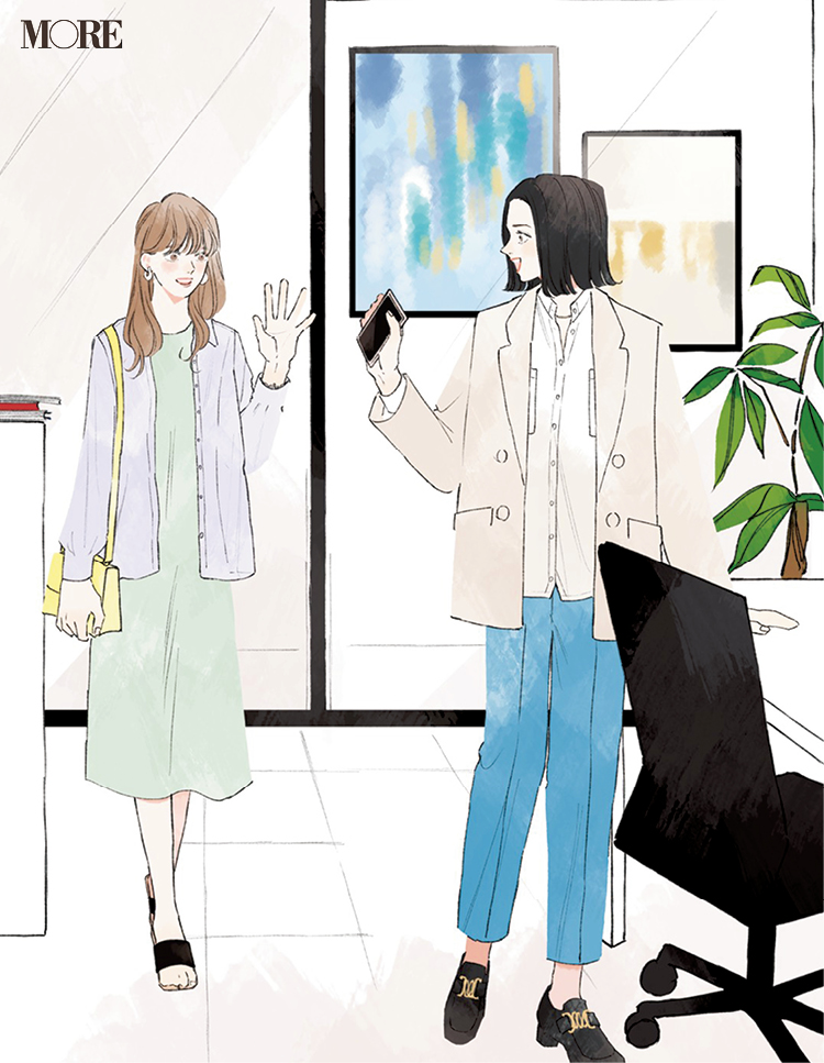 着回し新連載スタート☆ 同僚3人の恋物語『涼しげ寒色服着回し』使用アイテムはコレ!_4
