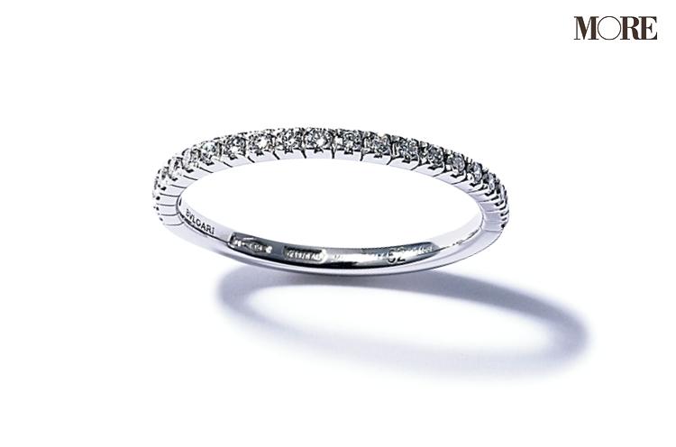 ブルガリのハーフエタニティリング 結婚指輪