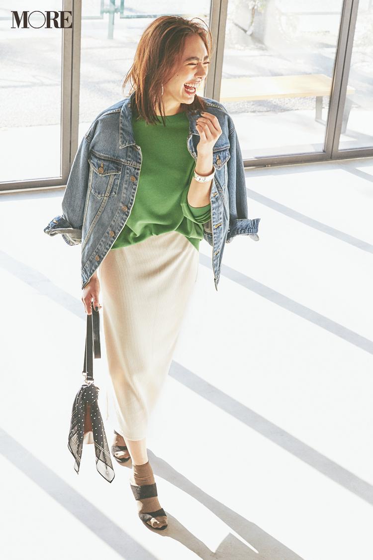 【今日のコーデ】「服の日」だからおしゃれしたい! GUのオフ白スカートで寒い日だってコーデは春気分♪ 〈土屋巴瑞季〉_1