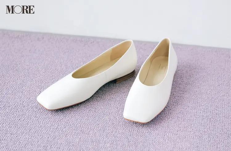 【人気ブランドのおすすめ靴】『オデット エ オディール』甲深ホワイトパンプス